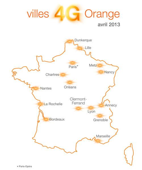 carte reseau 4g 2013 Orange ajoute la 4G pour les forfaits Origami Jet et Star