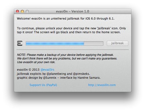 evasi0n jailbreak3 [TUTO] evasi0n : Jailbreak Untethered iOS 6.x pour iPhone 5 et plus