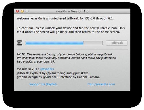 evasi0n jailbreak3 Le logiciel evasi0n passe en version 1.1