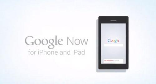 Google Now App iOS Google Now est en attente chez Apple