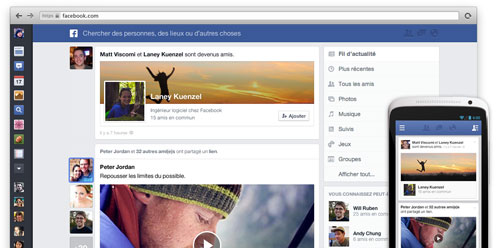 facebook actu Le nouveau fil dactualité Facebook se rapproche de lApp