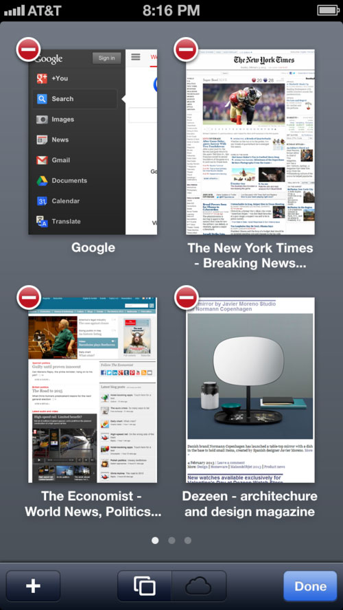 iOS 7 Safari Concept Pages Concept : Safari Mobile pour iOS 7