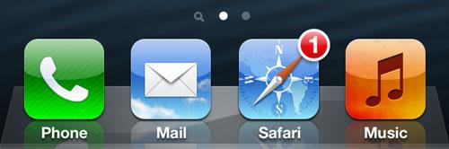 iOS 7 Safari Concept Safari Icon Notification Concept : Safari Mobile pour iOS 7