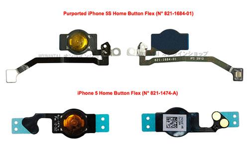 iphone 5S hom button Premières images de liPhone 5S : bouton Home et vibreur ?