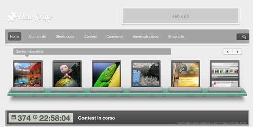 new grigo slider carousel 10% offert pour un super thème Wordpress par miniMac