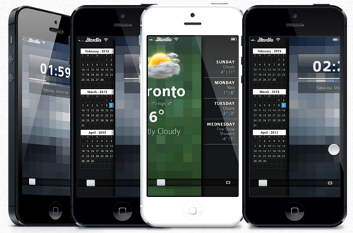 peekly iphone jailbreak tweak1 Jailbreak : Un écran de verrouillage pour iOS plutôt impressionnant
