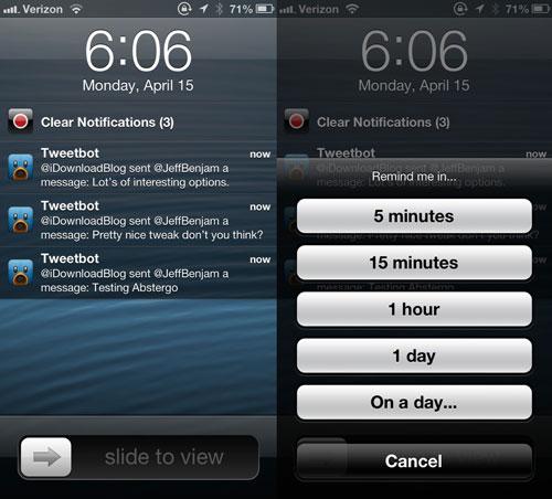 Abstergo cydia1 Cydia : Abstergo, le tweak parfait pour les notifications