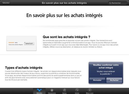 achats integres1 Apple vous aide à en savoir plus sur les achats intégrés