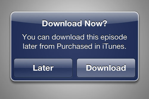 itunes download later Apple ajoute un bouton Télécharger plus tard à liTunes Store