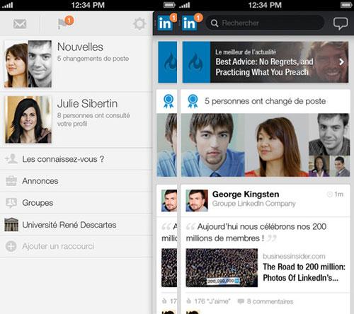 linkedin LinkedIn adopte une nouvelle interface