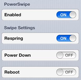 powerswipe1 Cydia : PowerSwipe, le redémarrage facile depuis lécran de verrouillage