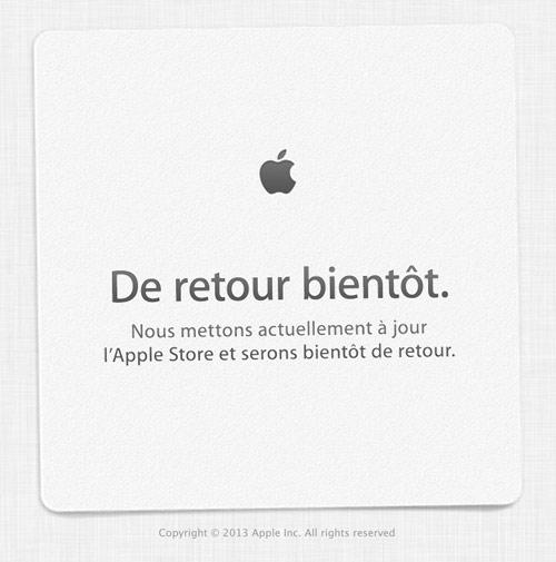 store LApple Store en ligne est fermé [Maj : ouvert]