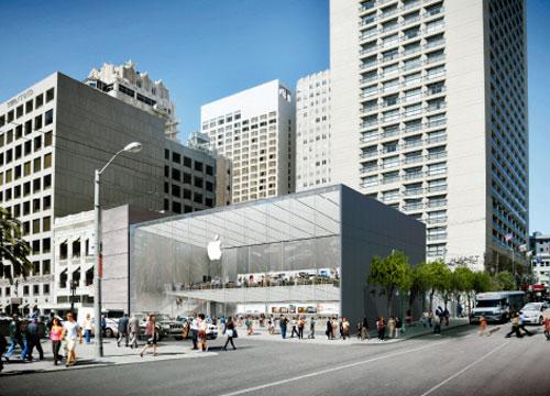 New Apple Store Un nouvel Apple Store entièrement vitré pour San Francisco