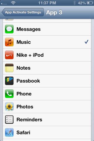 appactivate1 Cydia : App Activate assigne des actions Activator à vos icônes