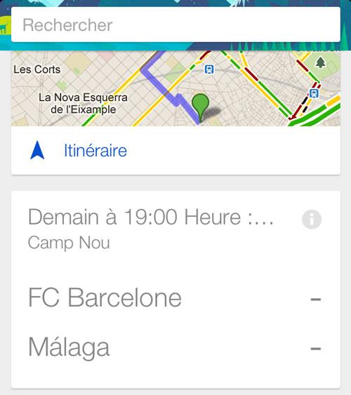 google search Google Now ajoute vos équipes sportives favorites
