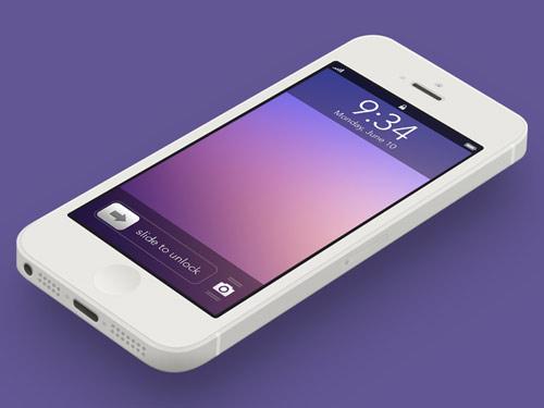 ios7 Image : un concept de lockscreen pour iOS 7