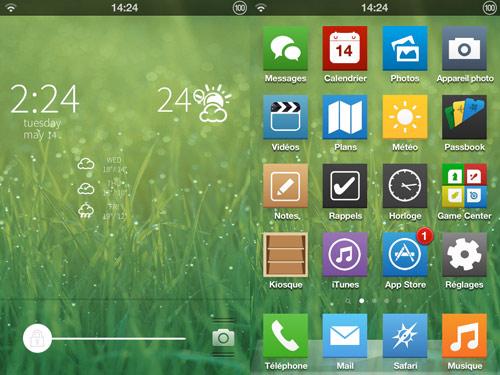 ios71 Cydia : iOS 7 Flat Theme met un peu diOS 7 sur votre iPhone