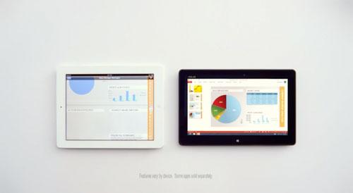 ipad windows 8 Pub : Microsoft se compare à liPad