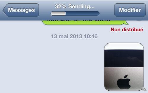 message send percent1 Cydia : Message Send Percent, affichez le pourcentage lors de lenvoi de message