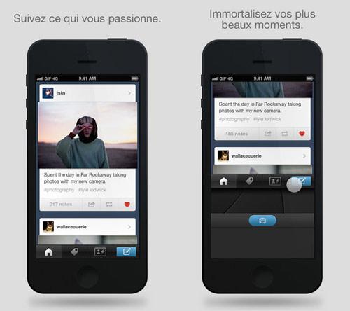 tumblr Tumblr pour iPhone : une mise à jour majeure concernant linterface