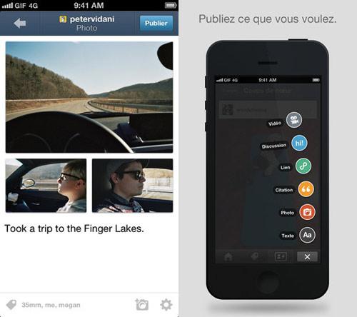 tumblr1 Tumblr pour iPhone : une mise à jour majeure concernant linterface
