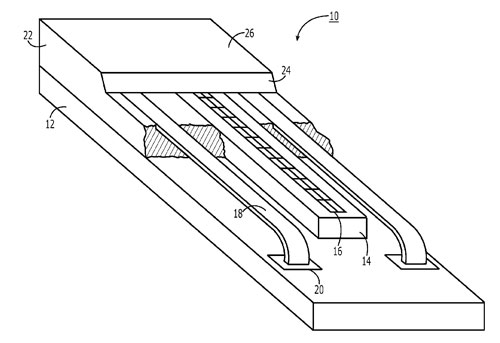 Apple patent fingerprint sensor encapsulation 0011 Un brevet Apple décrit un capteur dempreintes encapsulé
