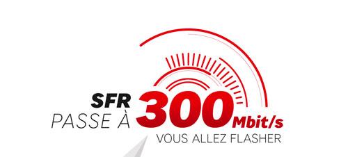 SFR FIBRE La fibre SFR passe de 100 à 300 Mb/s
