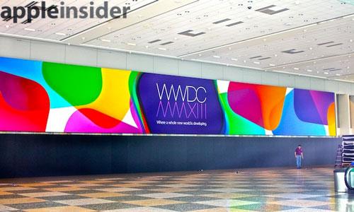 WWDC 2013 Moscone Le Moscone Center se prépare pour la WWDC
