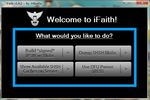 iFaith iH8sn0w SHSH iH8Sn0w met à jour iFaith en 1.5.9 pour lApple TV iOS 5.3