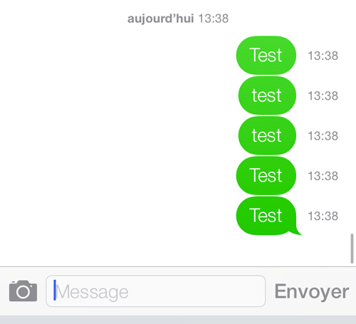 ios 7 affiche heure message Astuce iOS 7 : afficher lheure denvoi dun message