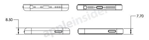 iphone 5s low cost design bottom1 Des schémas de liPhone5S et d'un iPhone Light fuitent sur la toile