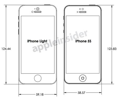 iphone 5s low cost design front1 Des schémas de liPhone5S et d'un iPhone Light fuitent sur la toile