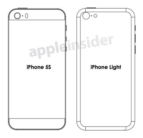 iphone 5s low cost design rear1 Des schémas de liPhone5S et d'un iPhone Light fuitent sur la toile