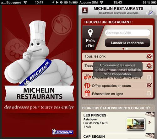 michelin app 1 Régalez vous dans les meilleurs endroits avec Michelin Restaurants