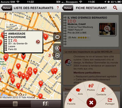 michelin app 2 Régalez vous dans les meilleurs endroits avec Michelin Restaurants