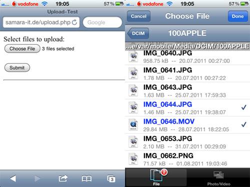 safariuploadenabler Les mises à jour Cydia de la semaine 25