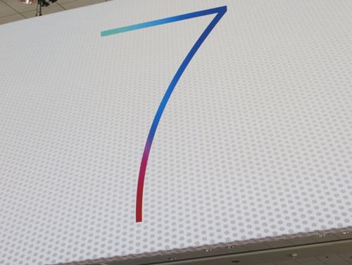 wwdc 2013 01 Nouvelles photos du logo iOS 7 et découverte du logo Mac OS X