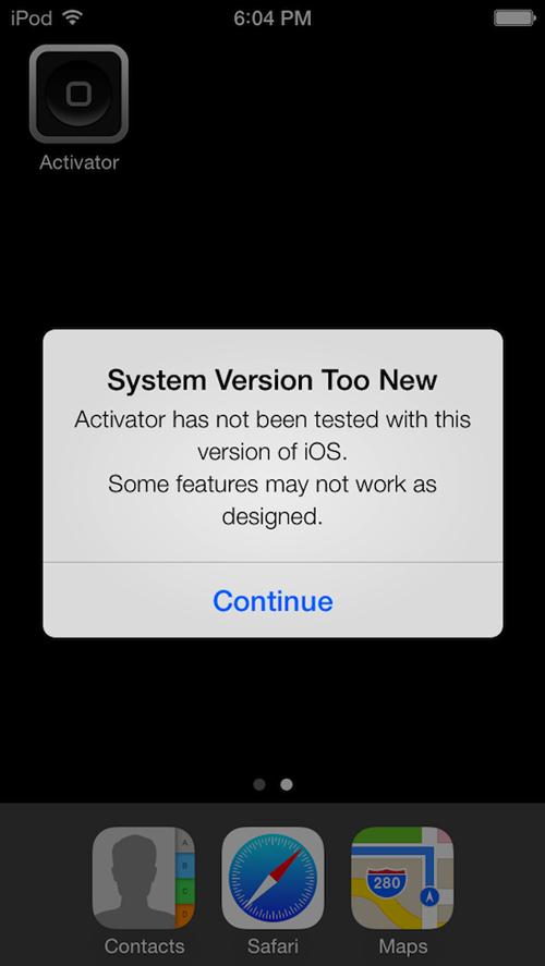 ios 7 activator Ryan Petrich montre un iPod Touch jailbreak sous iOS 7