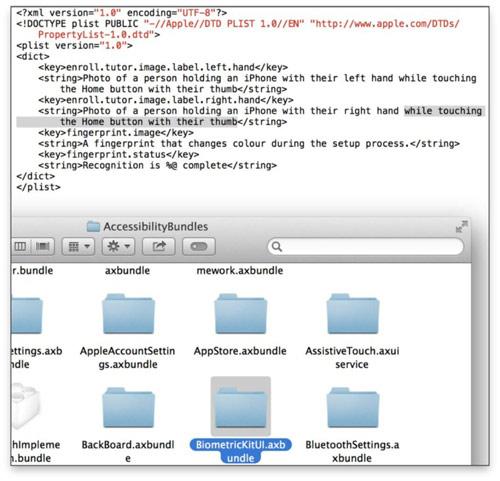 ios7 iOS 7.0 beta 4 : des traces de la reconnaissance dempreintes digitales