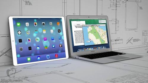 12 9 ipad macbook air 800x450 Concept dun iPad 12,9 pouces