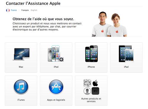 AppleCare LAssistance Apple devient plus intuitive sur le web