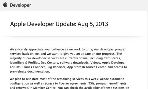 dev center apple Le Dev Center entièrement restauré cette semaine