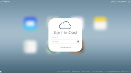 icloud1 Apple met un peu diOS 7 dans iCloud.com beta