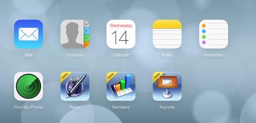 icloud2 Apple met un peu diOS 7 dans iCloud.com beta