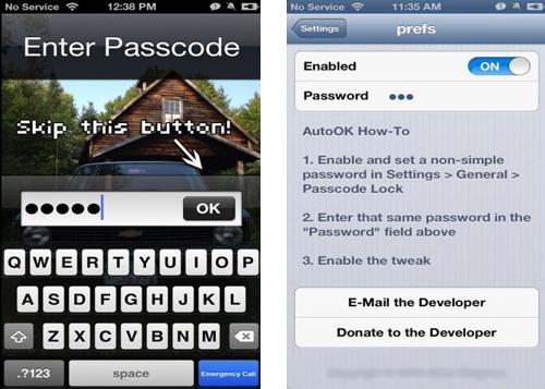screen ao Cydia : AutoOk, validez automatiquement votre code complexe de verrouillage