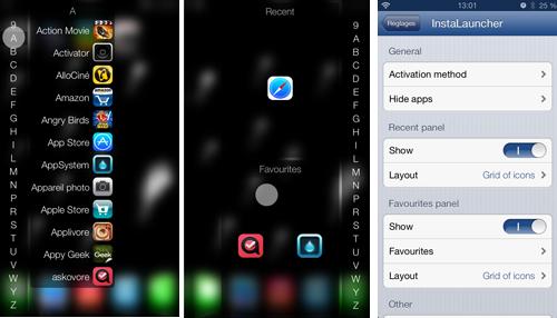screen il Cydia : InstaLauncher, lancez rapidement vos applications sans les chercher