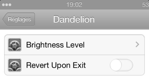 IMG 1922 500x276 Cydia : Dandelion, configurez la luminosité de votre écran pour chaque application