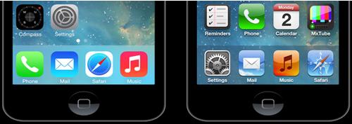 bandeau cd Cydia : CopyDock, installez un dock façon iOS 7
