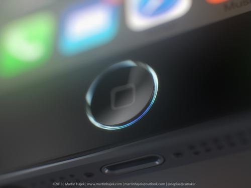iPhone 5S silver rounded Home button Martin Hajek 001 Le bouton Home des iPhone et iPad en voie de disparition ?