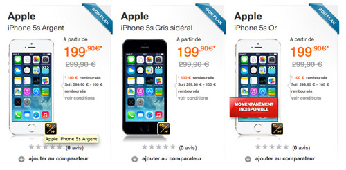 iphone 5S orange LiPhone 5S à partir 199,90 € chez Orange